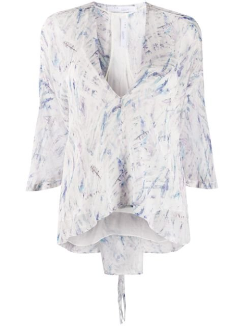 Iro Abstract Print Silk Blouse Ss20 | Farfetch.com