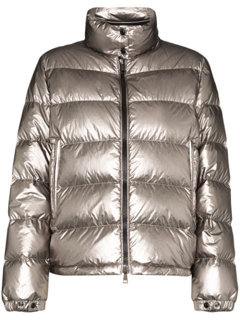 Moncler Quilted Metallic Down Jacket Ss20 | Farfetch.com