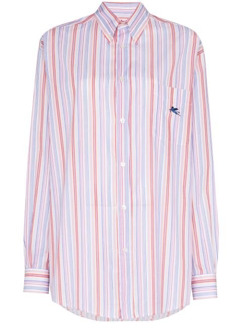 Etro Striped Button Down Shirt Ss20 | Farfetch.com