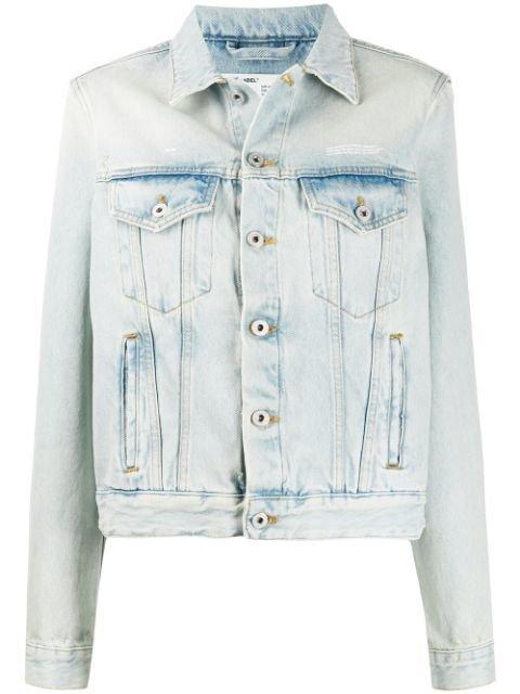 Off-White Bleached Boxy Denim Jacket Ss20 | Farfetch.com