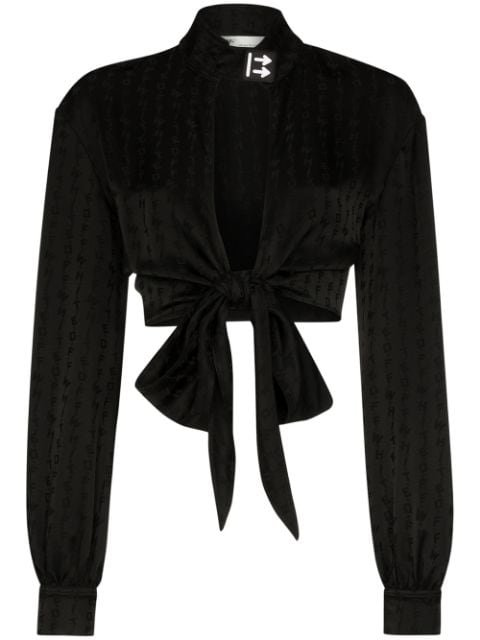 Off-White Cropped Front-Tie Blouse Ss20 | Farfetch.com