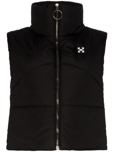 Off-White Logo-Appliqued Quilted Gilet Ss20 | Farfetch.com