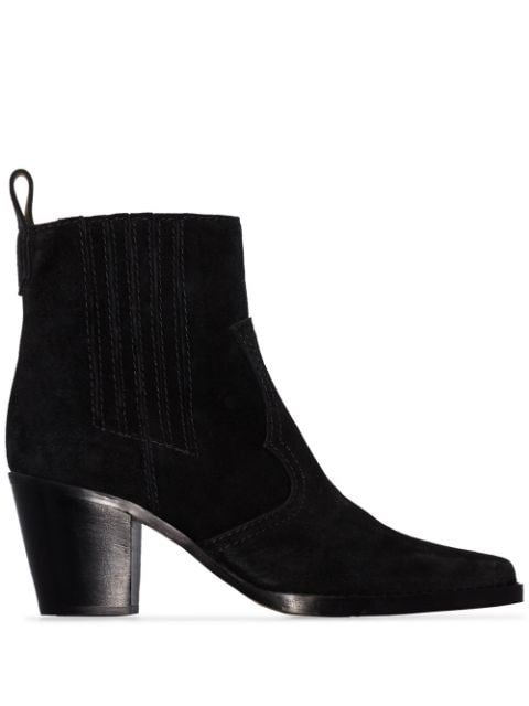 Ganni Western-Style Ankle Boots Ss20 | Farfetch.com