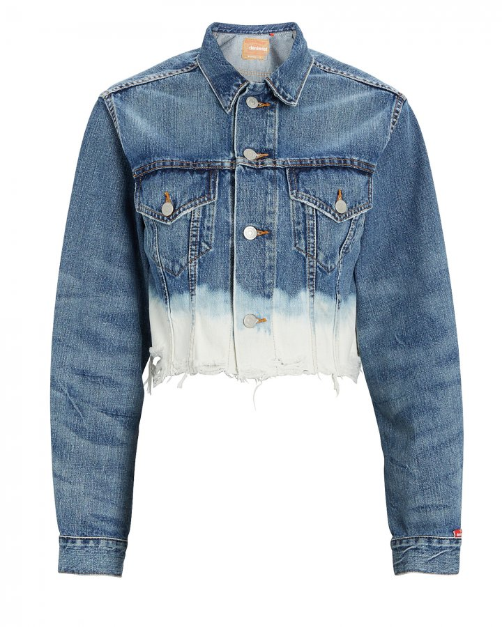 Agnes Cropped Dip Dye Denim Jacket