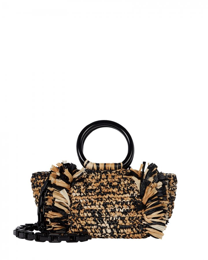 Corallina Fringed Straw Tote