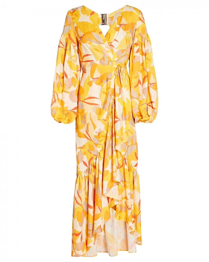 Gallion Floral Wrap Dress