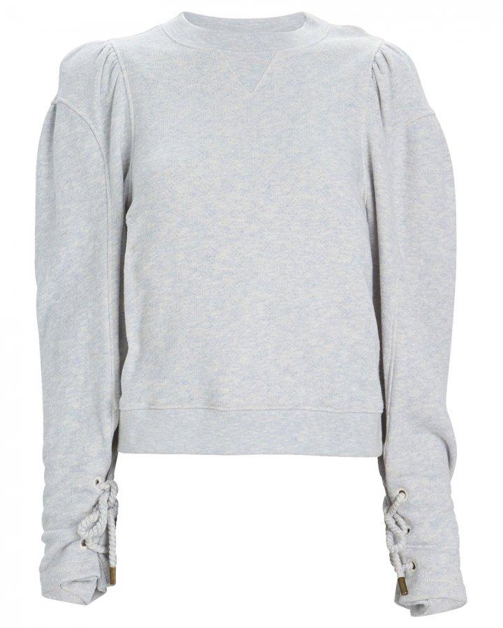 Luna Mélange Puff Sleeve Sweatshirt