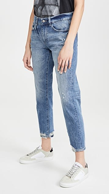 Riley Tapered Mid Rise Boyfriend Jeans