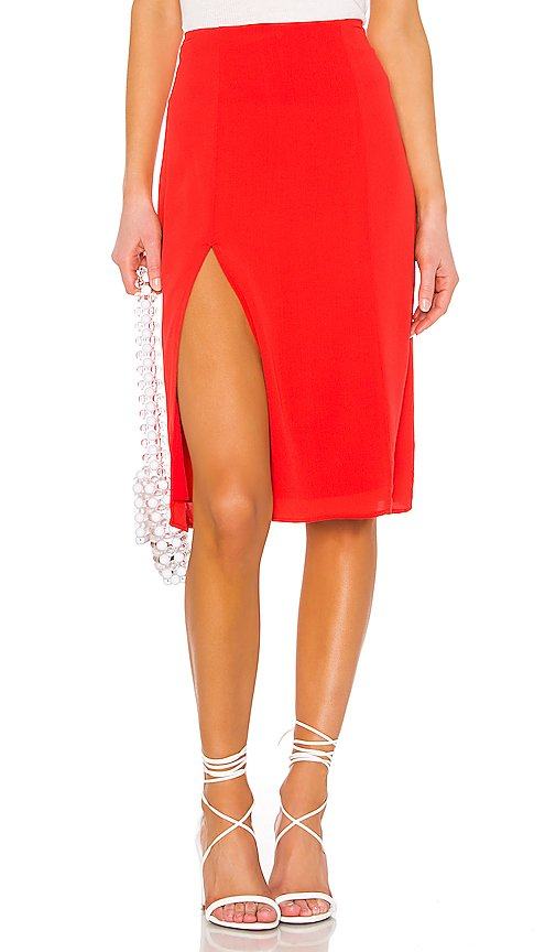 Crystal Slit Midi Skirt