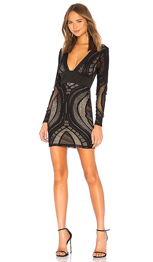 Cait Deep V Lace Dress