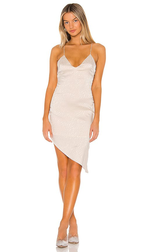 Alissa Asymmetrical Midi Dress