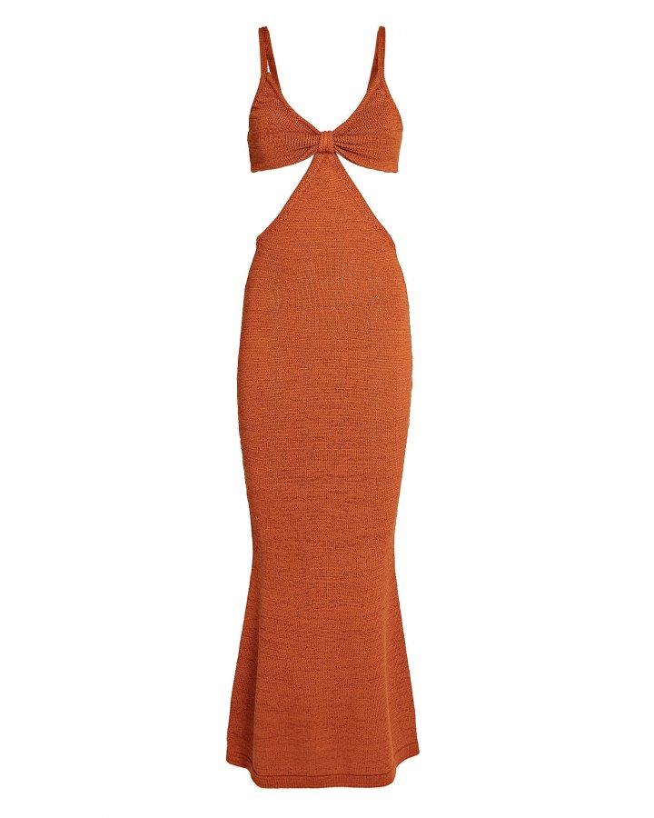Serita Cut-Out Knit Maxi Dress