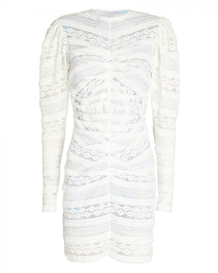 Alva Lace Puff Sleeve Dress