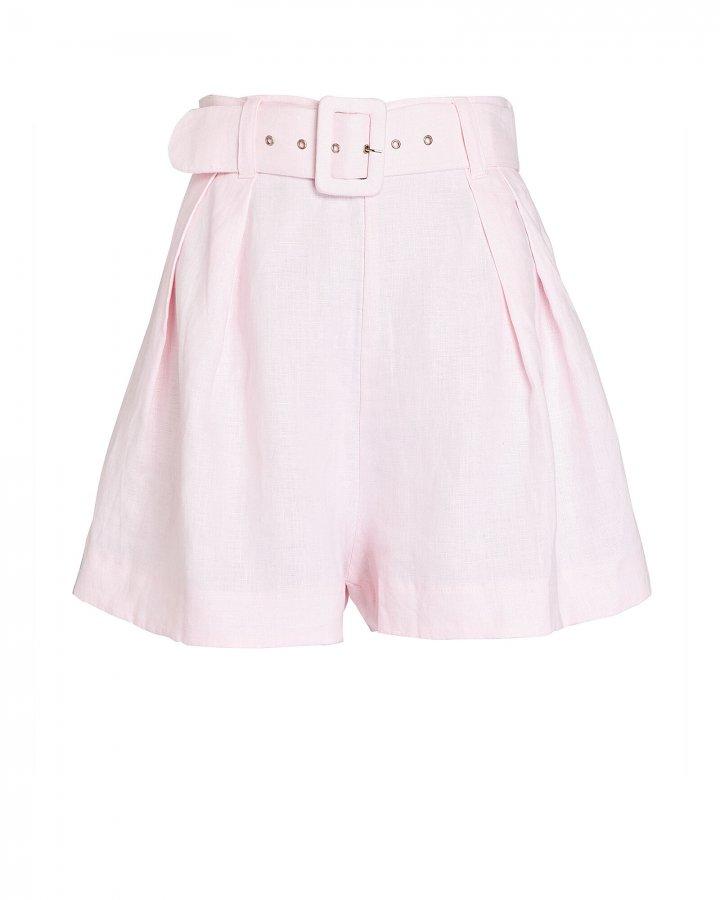 Priscilla Belted Linen Shorts