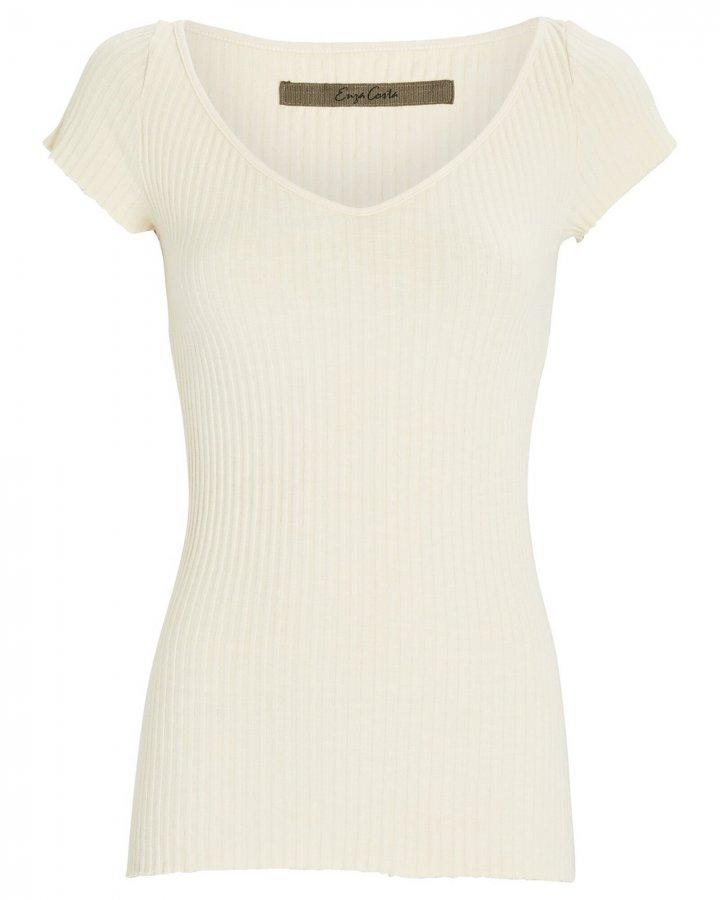 Rib Knit T-Shirt