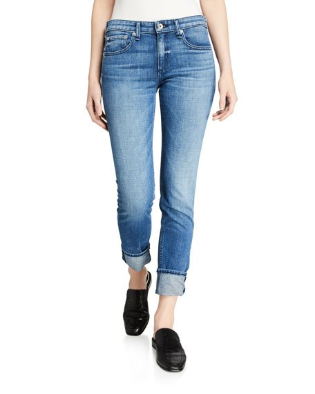 Dre Low-Rise Slim Boyfriend Jeans