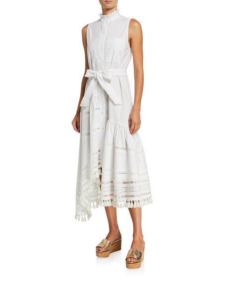 Nerioa Lace-Inset Maxi Dress