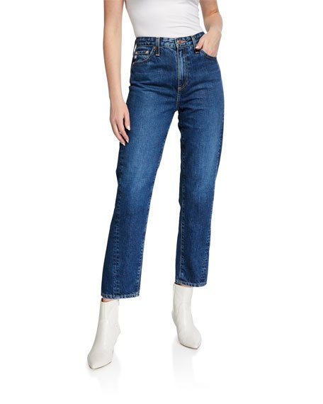 Phoebe Cropped Straight-Leg Jeans