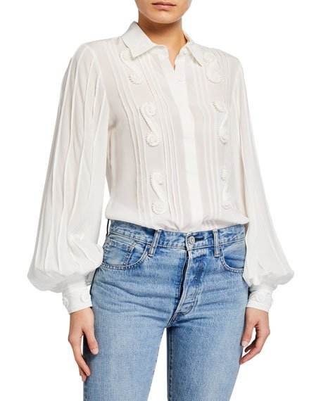 Lorne Embroidered Top