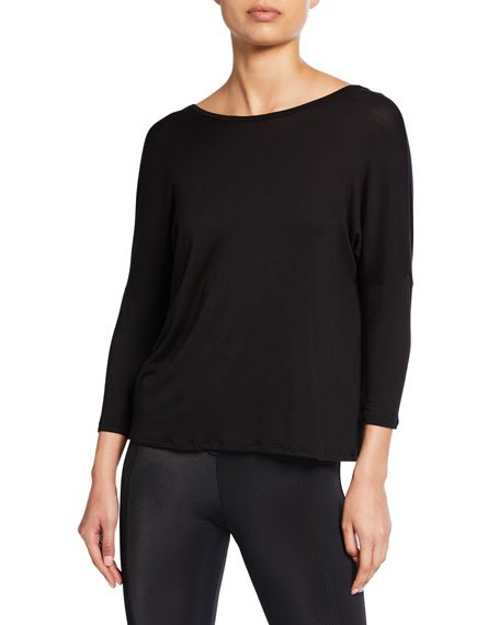 Slinky Twist-Back Long-Sleeve Top