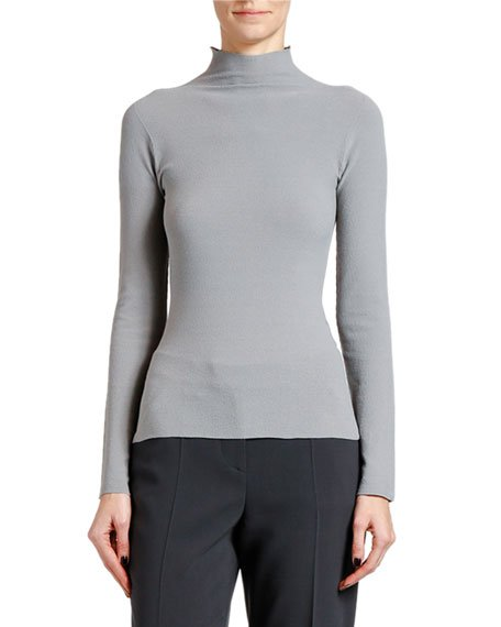 Moss Stitch Jersey Turtleneck