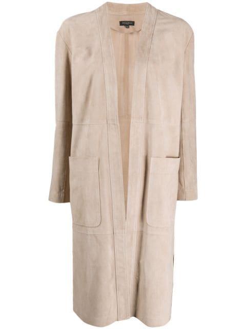 Antonelli Suede Midi Coat