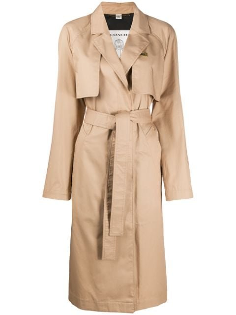 Coach Minimal Belted Trench Coat