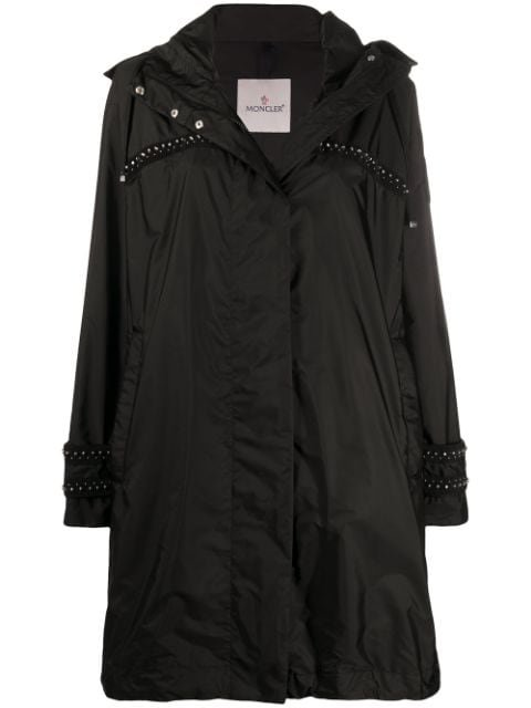 Moncler Studded Hooded Coat Ss20 | Farfetch.com