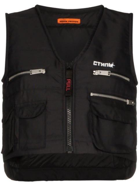 Heron Preston Multi-Pocket Zip-Up Vest Aw19 | Farfetch.com