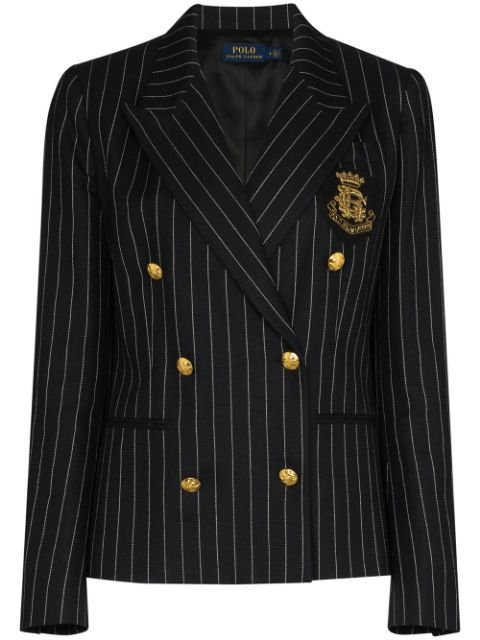 Polo Ralph Lauren double-breasted Pinstriped Blazer