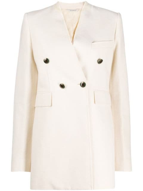 Givenchy Collarless double-breasted Blazer