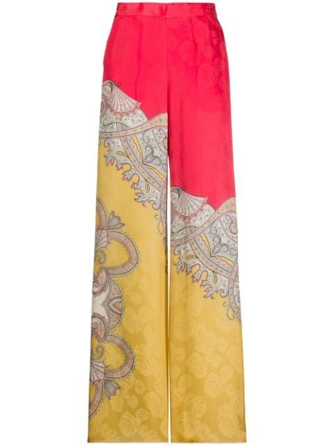 Etro High-Waisted Flared Trousers Ss20 | Farfetch.com