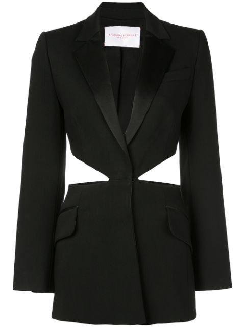 Carolina Herrera Cut-Out Single-Breasted Blazer Aw19 | Farfetch.com