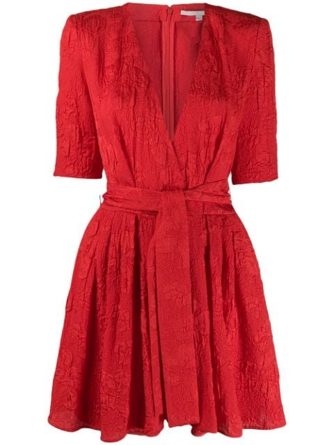 Stella McCartney Floral Jacquard Belted Playsuit
