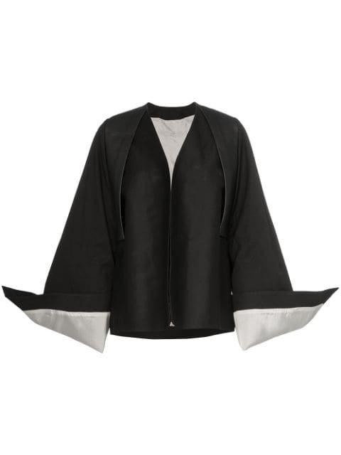 Rick Owens Oversized Cuff Cotton Blend Kimono Jacket Aw19 | Farfetch.com