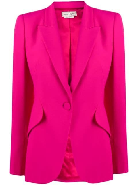 Alexander Mcqueen Leaf Single-Breasted Blazer Ss20 | Farfetch.com