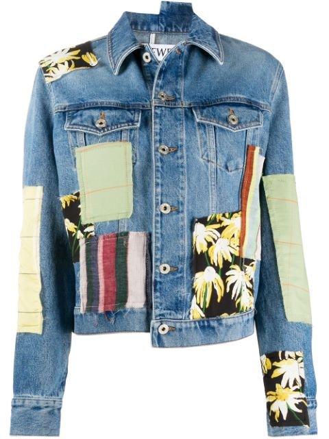 Loewe Patchwork Denim Jacket Ss20 | Farfetch.com