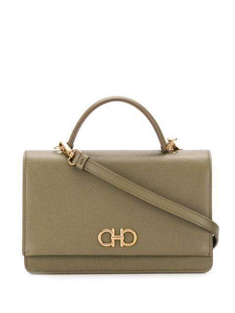 Salvatore Ferragamo Gancini Top Handle Bag Ss20 | Farfetch.com