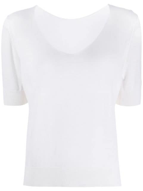 Roberto Collina Short-Sleeved Knit Top Ss20 | Farfetch.com