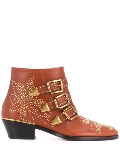 Chloé Susanna 30Mm Studded Ankle Boots Ss20 | Farfetch.com