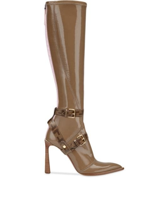 Fendi Patent Leather Pointed Toe Boots Ss20 | Farfetch.com