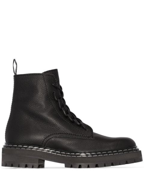 Proenza Schouler Leather Lace-Up Boots Ss20 | Farfetch.com