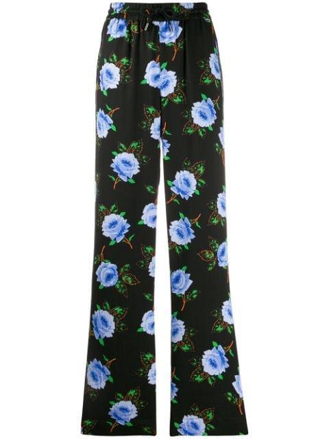 Essentiel Antwerp Floral Print High Waist Trousers Aw19 | Farfetch.com