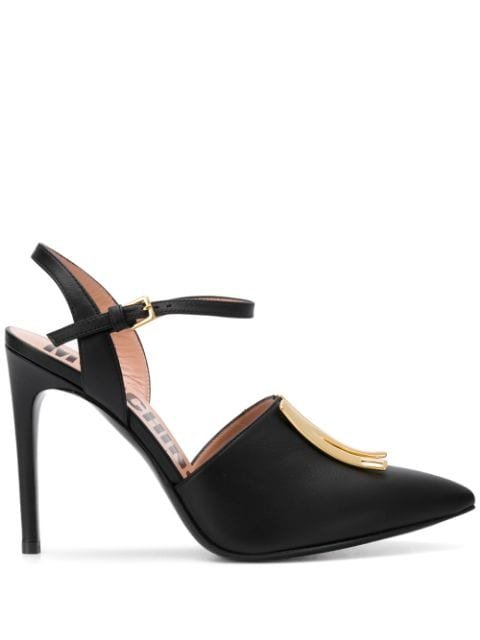 Moschino Logo-Plaque Stiletto Pumps Ss20 | Farfetch.com