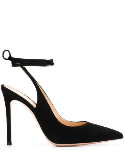 Gianvito Rossi Irene Slingback Lace-Up Pumps Ss20 | Farfetch.com