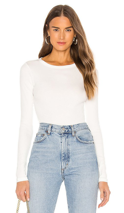 Leila Bodysuit Crew Neck Long Sleeve