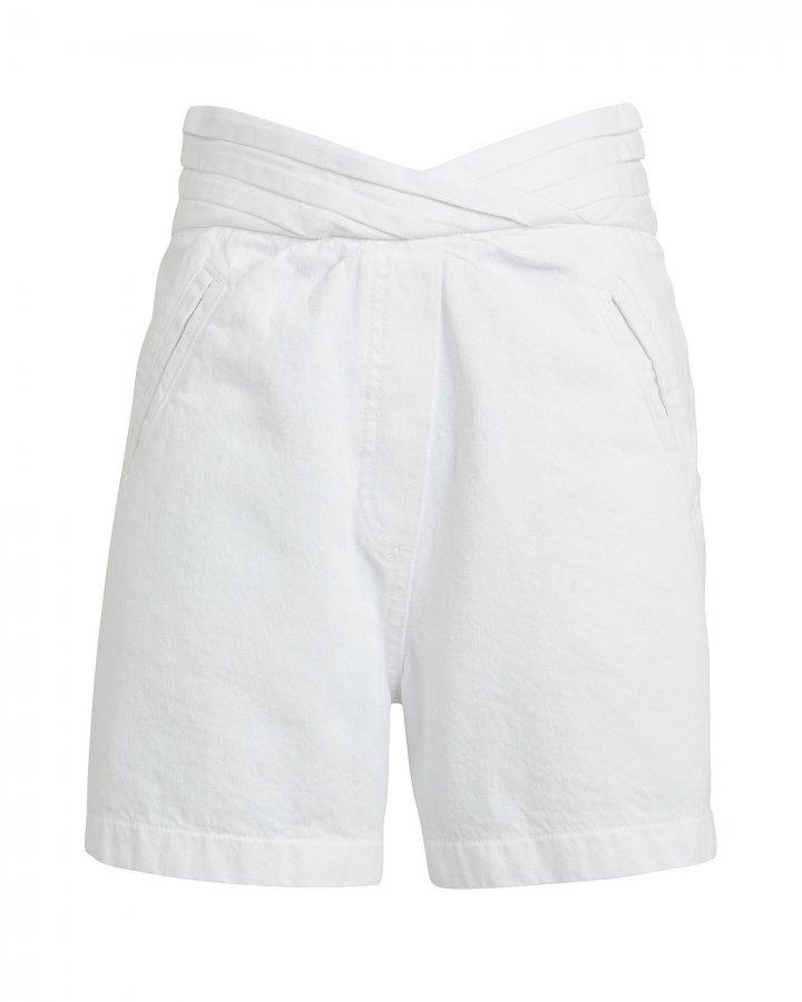 Ellena High-Rise Denim Shorts