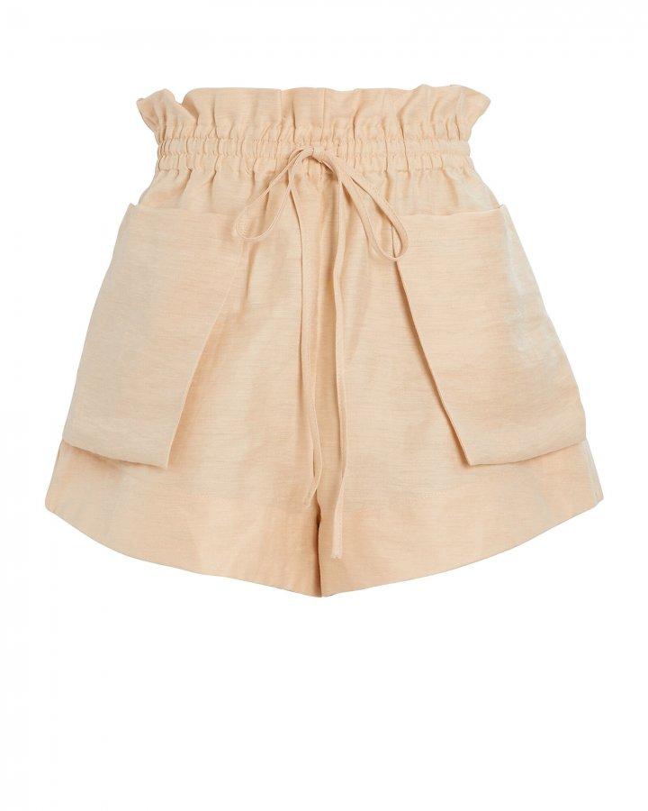 Savoye Paperbag Linen-Blend Shorts