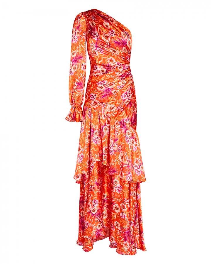 Israella One-Shoulder Floral Dress