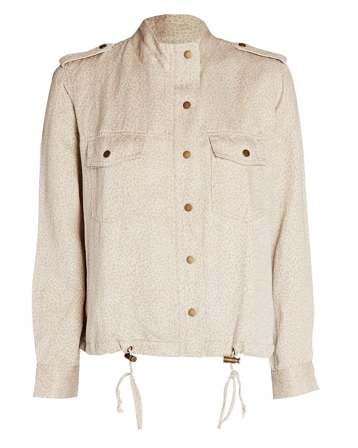 Collins Cheetah Print Military Jacket